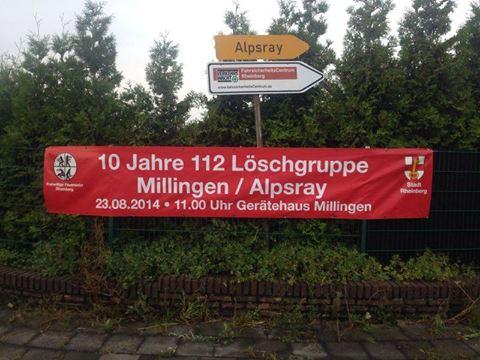 Brandschutztag zum 10 jährigen Jubiläum der LG Millingen-Alpsray