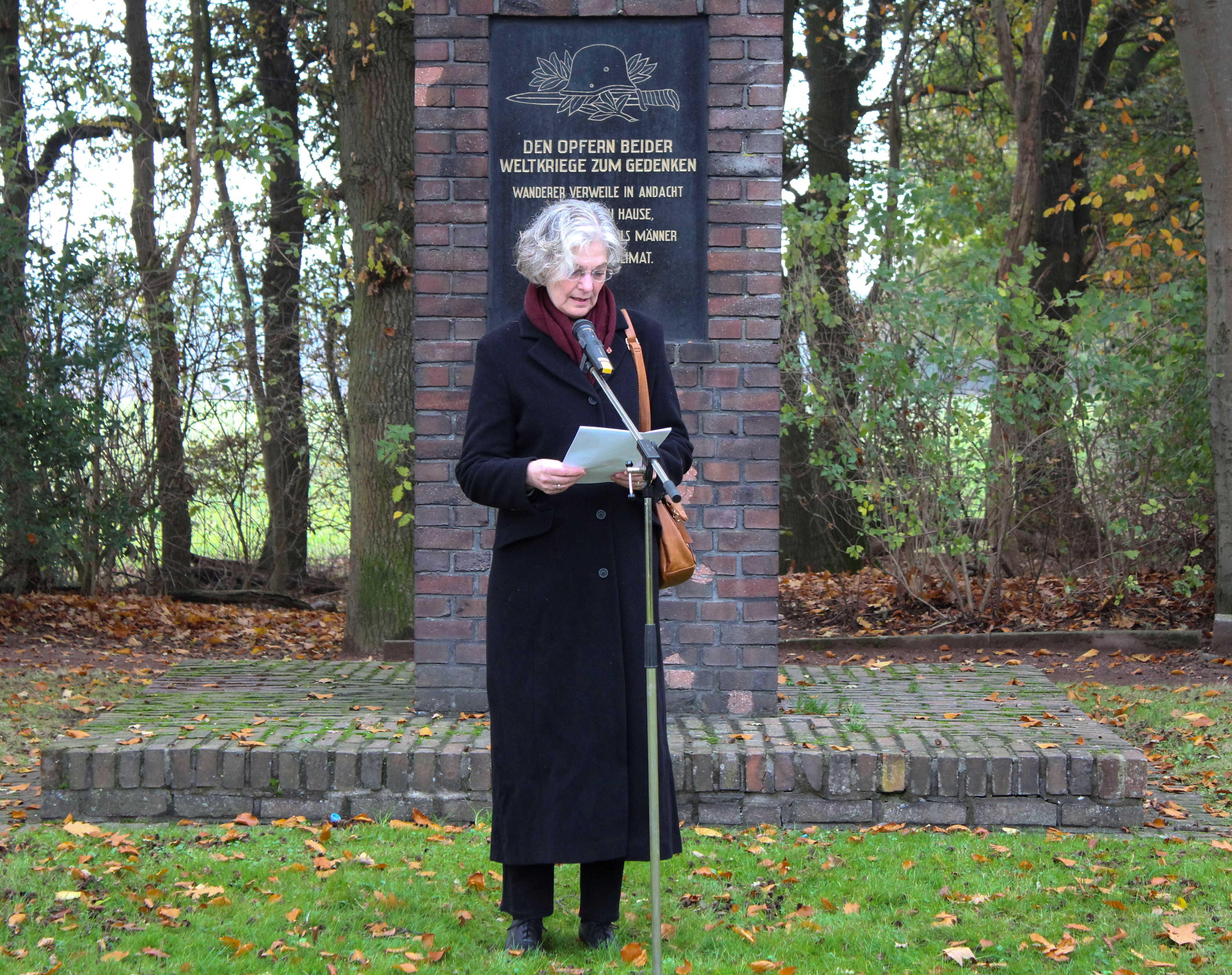 Karin Winkel bei ihrer Ansprache im Jahr 2016